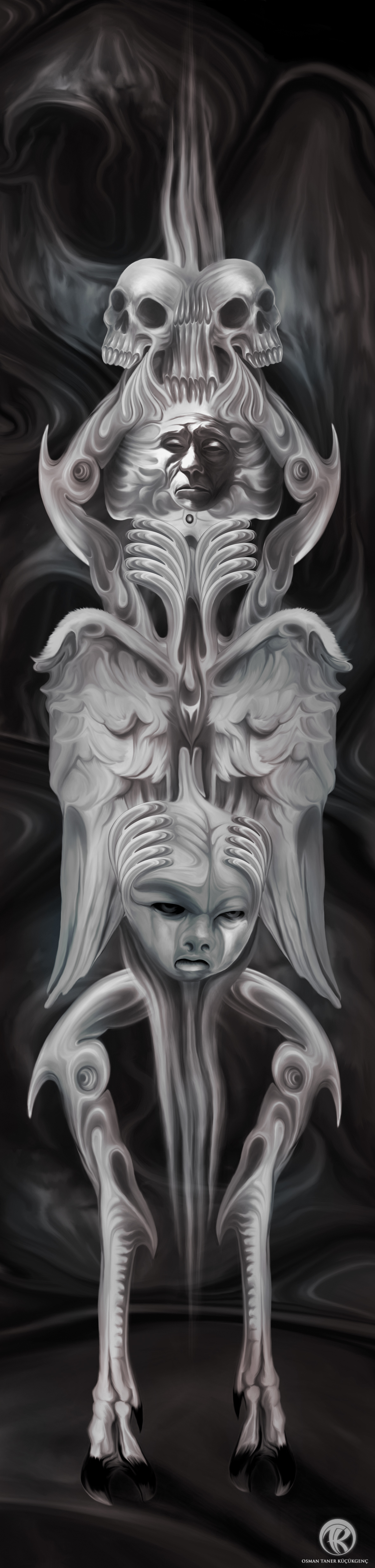 HYPNOS Dark Side - Episode 1 Digital Painting wacom intuos 5 - Photoshop CS5