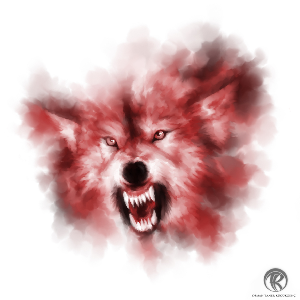 WOLF ALPHA Digital Painting wacom intuos 5 - Photoshop CS5 ( Original )