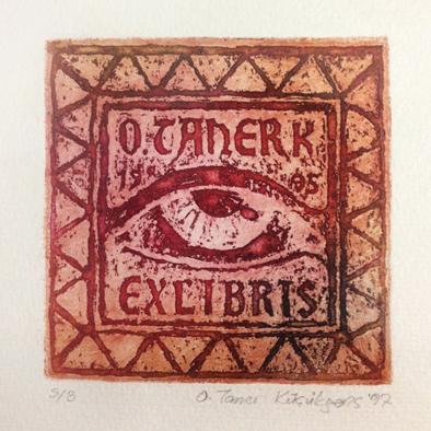 Exlibris Osman Taner Küçükgenç 10 x 10 cm