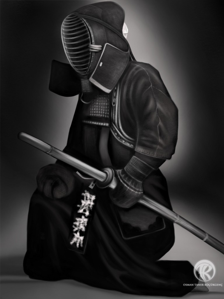 Kendo-Warrior within Digital Painting iPad Mini Procreate