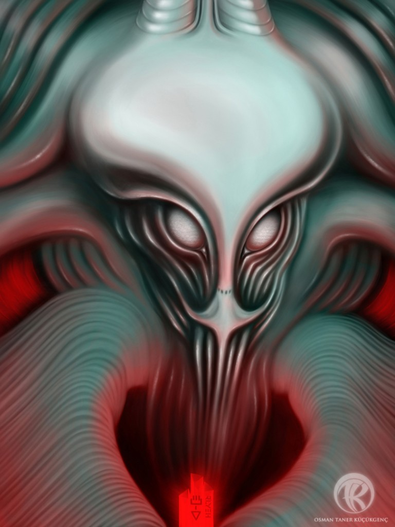 The Call of Cthulhu Digital Painting iPad Mini-Procreate