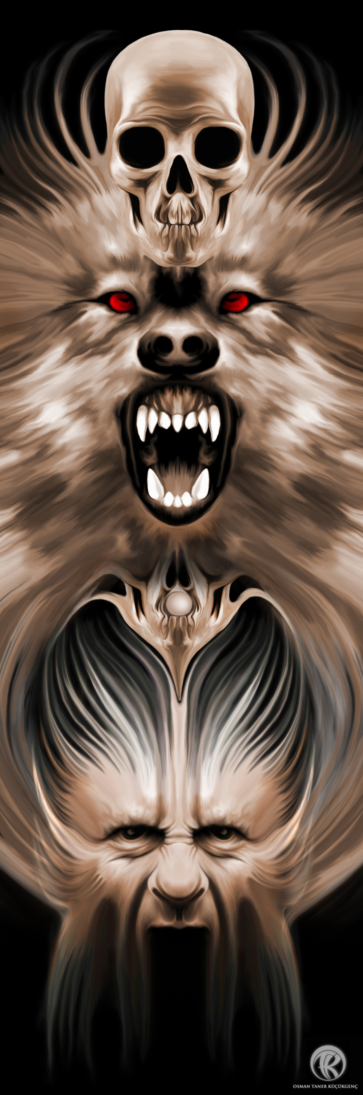 WOLF ALPHA Digital Painting wacom intuos 5 - Photoshop CS5